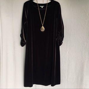 SUSAN GRAVER VELVET . FLOOVY DRESS SIZE XL